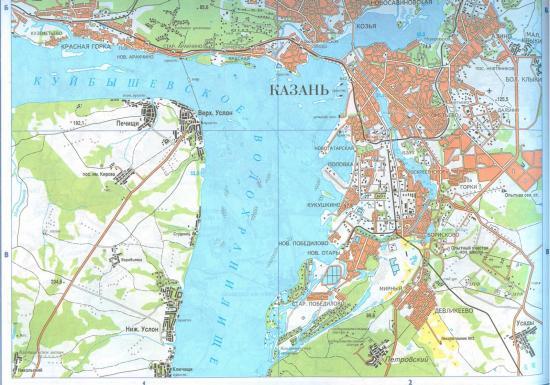 Куйбышевское водохранилище на карте