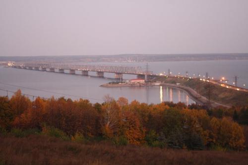 Мост через Куйбышовское водохранилище в Ульяновске