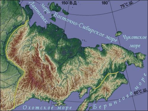 Восточно-Сибирское нагорье карта