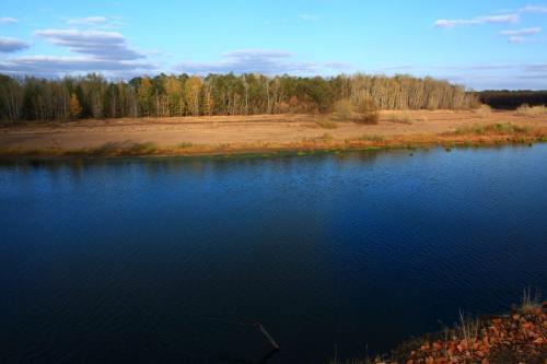 река Урал вечером в октябре