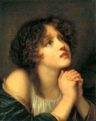 Жан-Батист Грез Портрет молодой женщины
