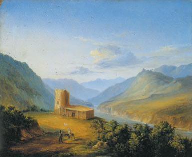 Военно-Грузинская дорога близ Мцхета, М.Ю. Лермонтов, 1837