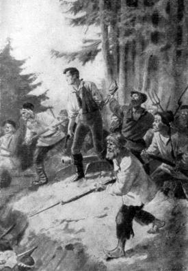 Дубровский с крестьянами