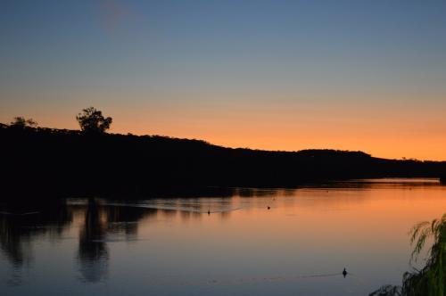 закат на реке Муррей