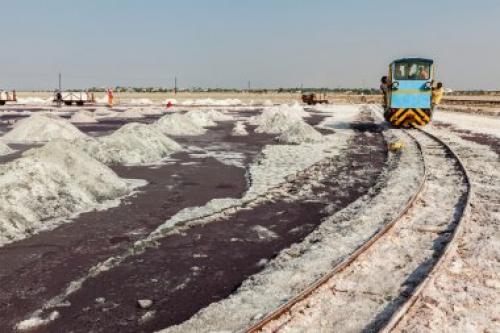 добыча соли на озере Самбхар
