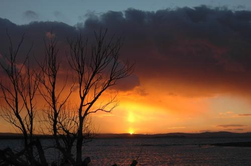 закат на реке Кызылырмак