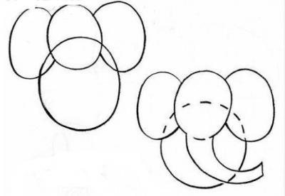 Как нарисовать слона карандашом поэтапно дляей