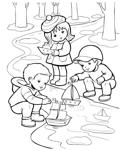 Рисунок для детей травка